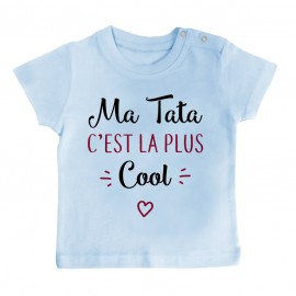 T-Shirt bébé Ma tata c'est la plus cool