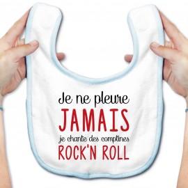 Bavoir bébé Je chante des comptines rock'n roll