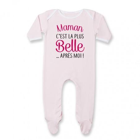 Pyjama bébé Maman c'est la plus belle..après moi