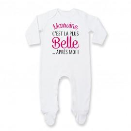 Pyjama bébé Marraine c'est la plus belle..après moi