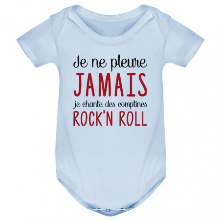 Body bébé Je chante des comptines rock'n roll