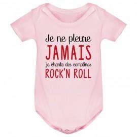 Body bébé Je chante des comptines rock'n roll
