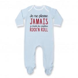 Pyjama bébé Je chante des comptines rock'n roll
