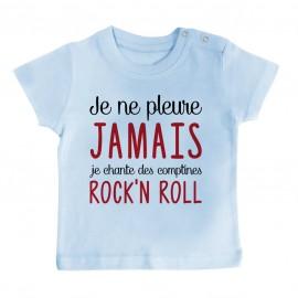 T-Shirt bébé Je chante des comptines rock'n roll