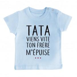 T-Shirt bébé Tata viens...