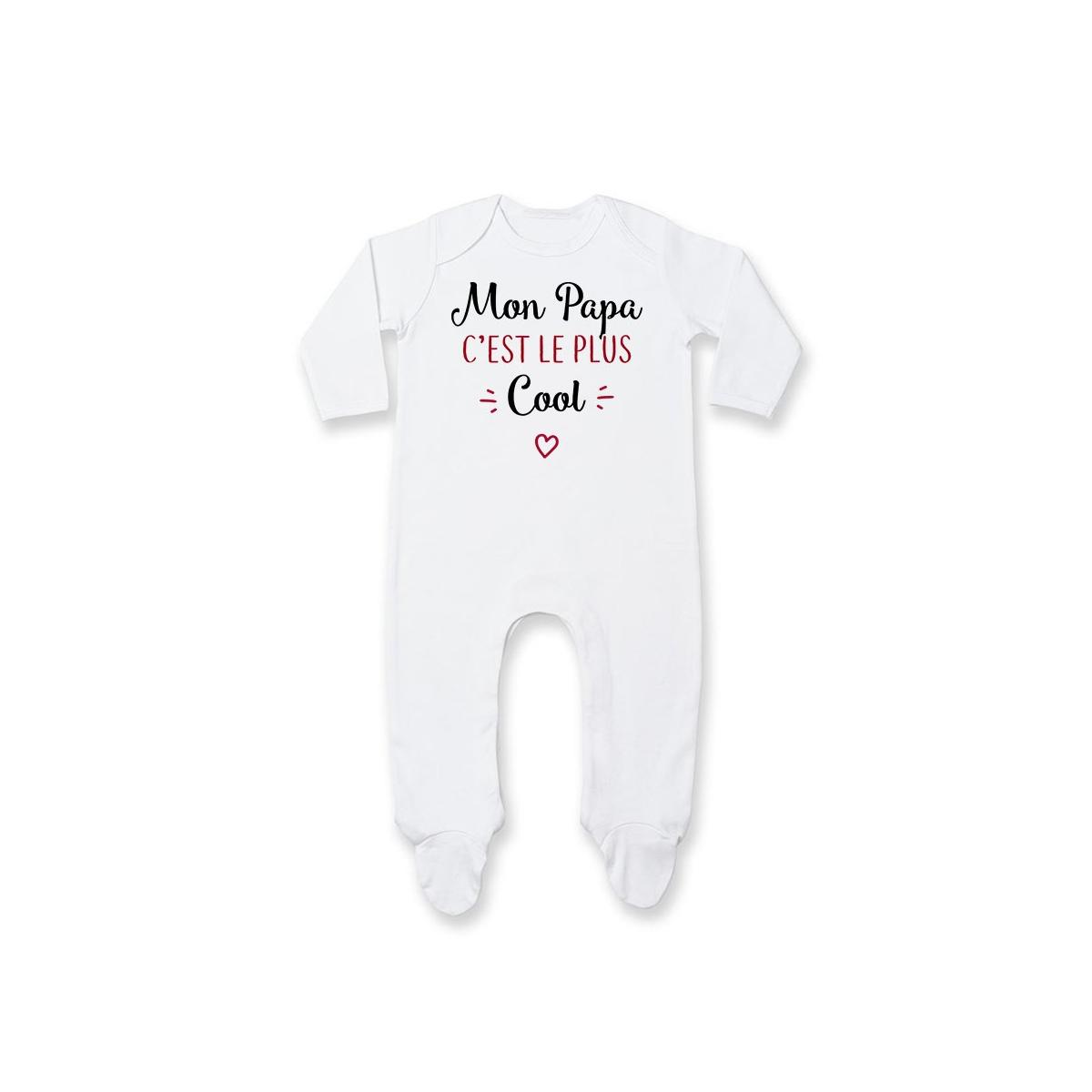 Pyjama bébé Mon papa c'est le plus cool