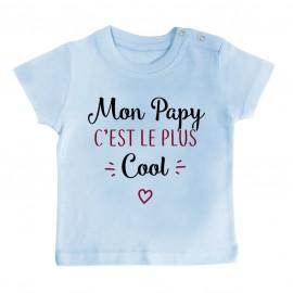 T-Shirt bébé Mon papy c'est le plus cool
