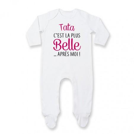 Pyjama bébé Tata c'est la plus belle après moi