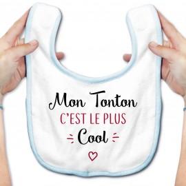 Bavoir bébé Mon tonton c'est le plus cool