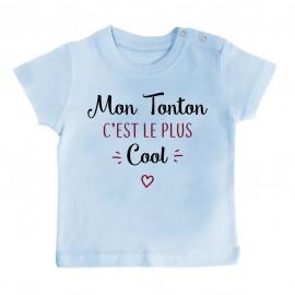 T-Shirt bébé Mon tonton c'est le plus cool
