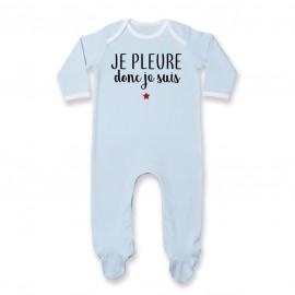 Pyjama bébé Je pleure donc je suis