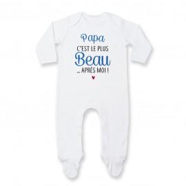 Pyjama bébé Papa c'est le plus beau..après moi