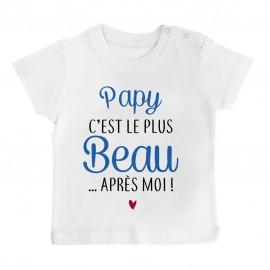 T-Shirt bébé Papy c'est le plus beau..après moi