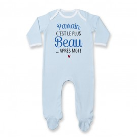 Pyjama bébé Parrain c'est le plus beau..après moi