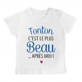 T-Shirt bébé Tonton c'est le plus beau..après moi