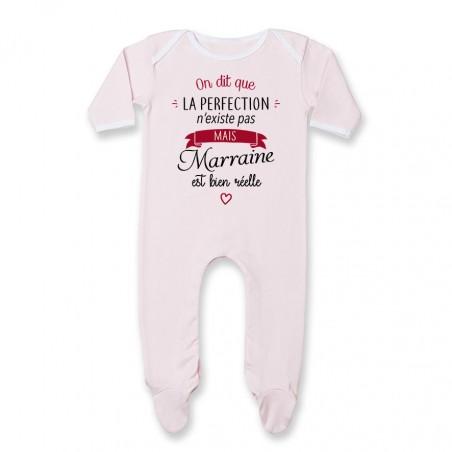 Pyjama bébé Perfection - Marraine