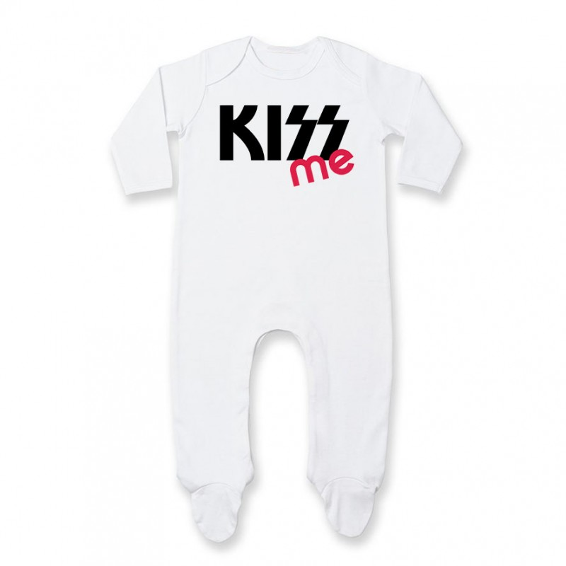Pyjama bébé KISS me ( version fille )