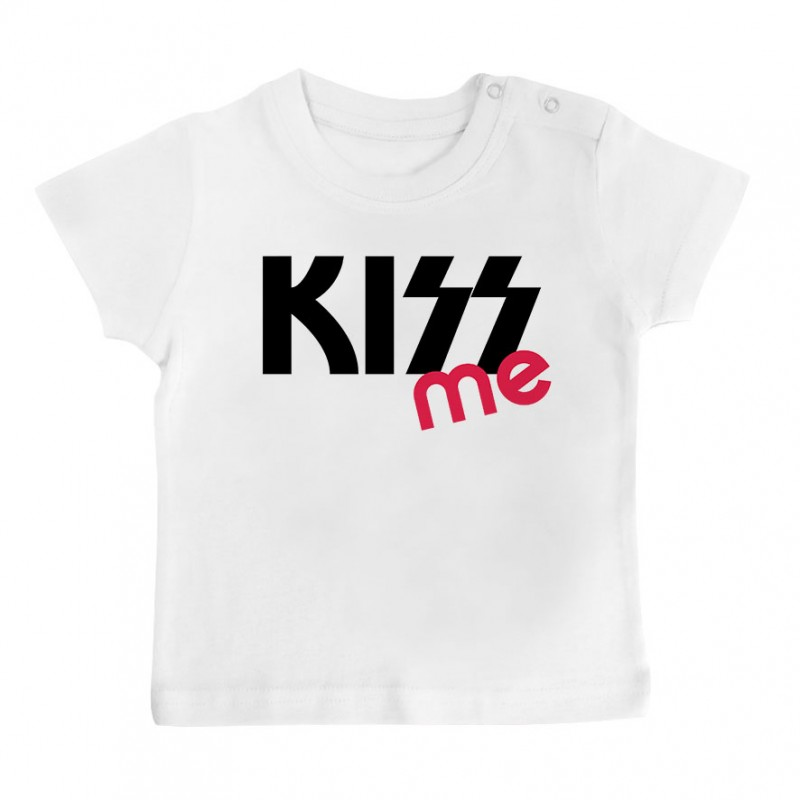 T-Shirt bébé KISS me ( version fille )