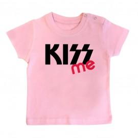 T-Shirt bébé KISS me ( version fille )