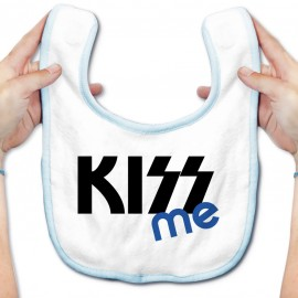 Bavoir bébé KISS me ( version garçon )
