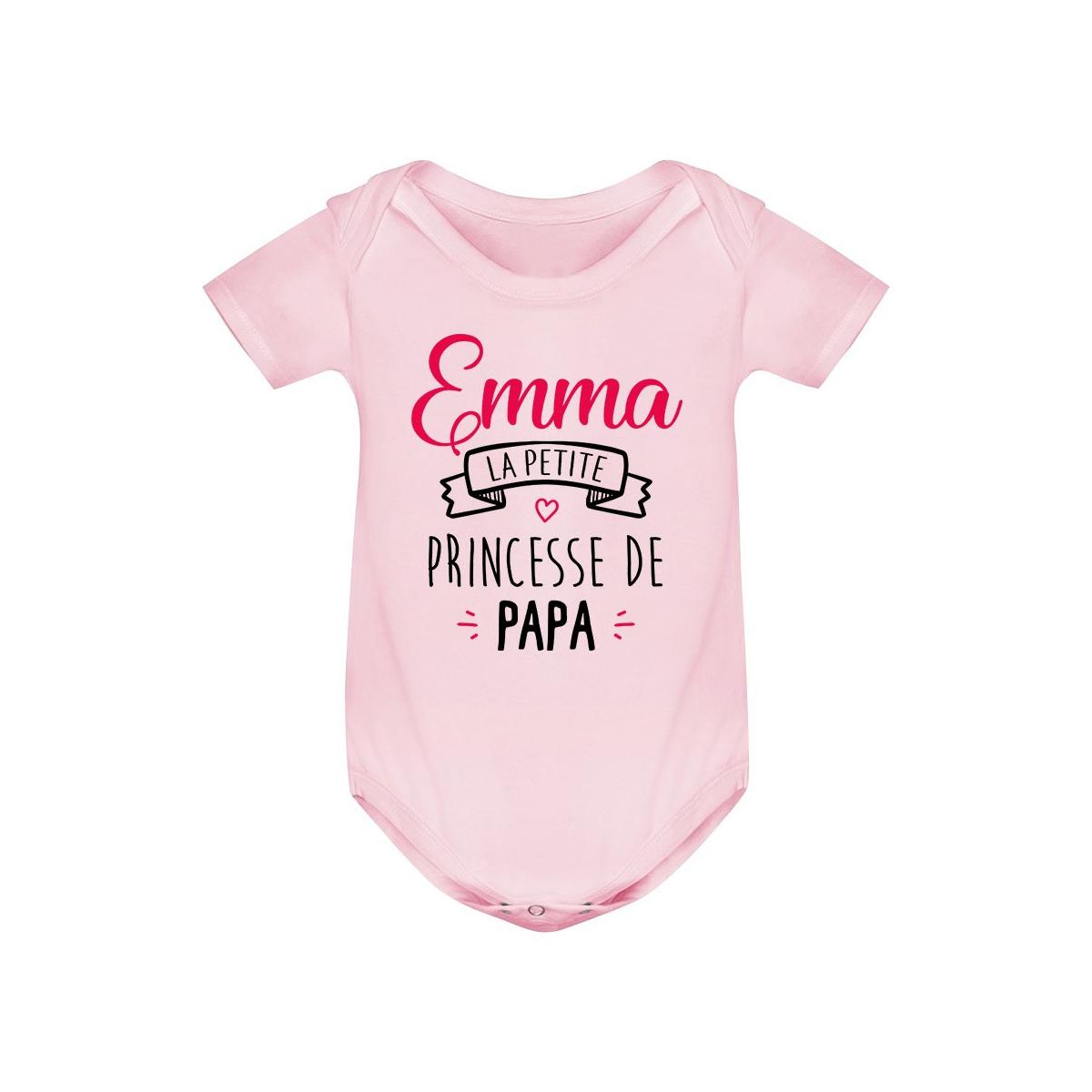 """Body bébé personnalisé """" Prénom """" la petite princesse de papa"""