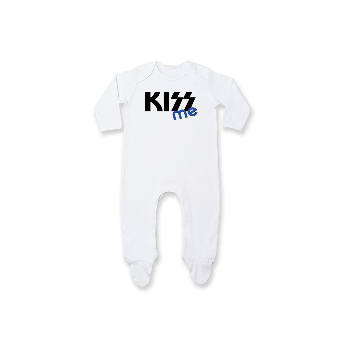 Pyjama bébé KISS me ( version garçon )