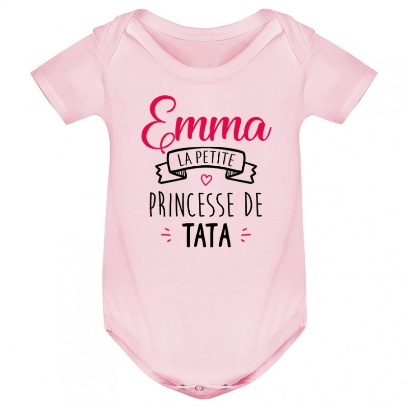 "Body bébé personnalisé "" Prénom "" la petite princesse de tata"