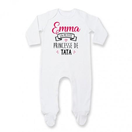 "Pyjama bébé personnalisé "" Prénom "" la petite princesse de tata"