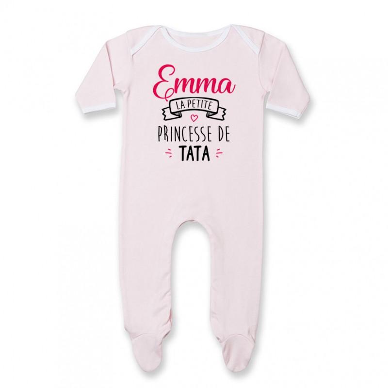 bf123032aef5c Vêtements filles (0-24 mois) T-shirt Bébé Petite Princesse avec Prénom  Personnalisé