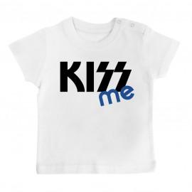 T-Shirt bébé KISS me ( version garçon )