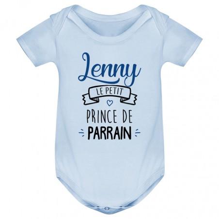 """Body bébé personnalisé """" prénom """" le petit prince de parrain"""