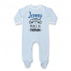 """Pyjama bébé personnalisé """" prénom """" le petit prince de parrain"""