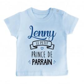 """T-shirt bébé personnalisé """" prénom """" le petit prince de parrain"""