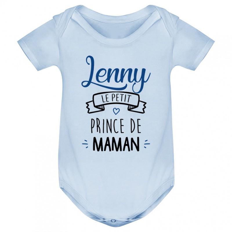 """Body bébé personnalisé """" prénom """" le petit prince de maman"""