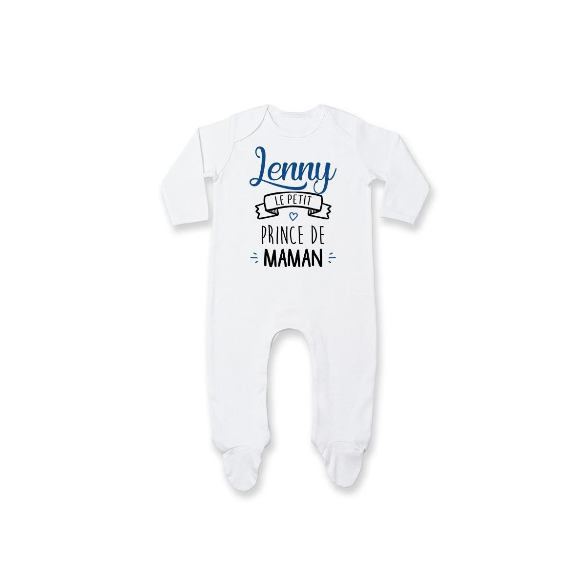 "Pyjama bébé personnalisé "" prénom "" le petit prince de maman"