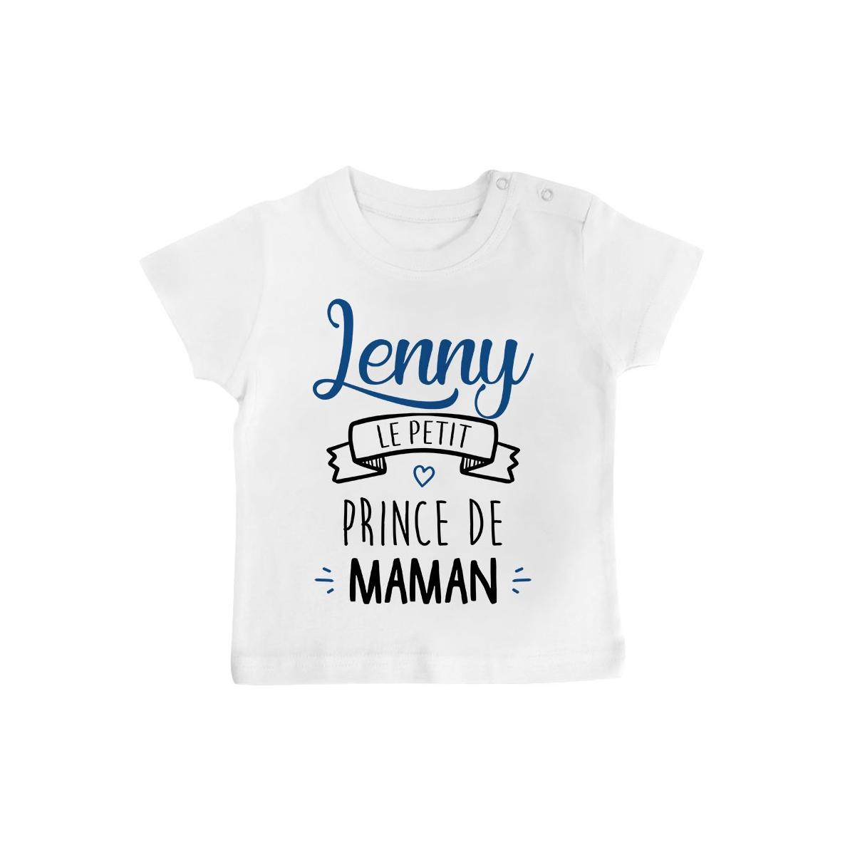 """T-shirt bébé personnalisé """" prénom """" le petit prince de maman"""