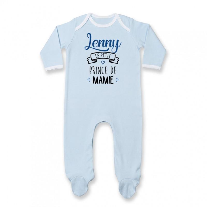 "Pyjama bébé personnalisé "" prénom "" le petit prince de mamie"