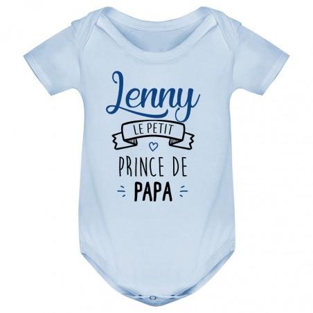 """Body bébé personnalisé """" prénom """" le petit prince de papa"""