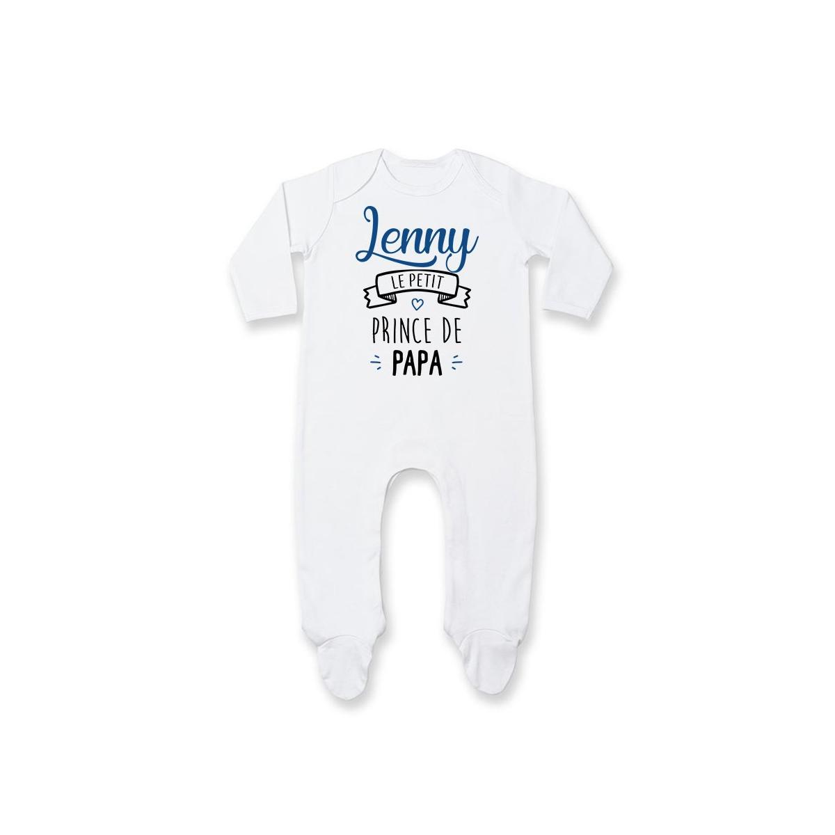 "Pyjama bébé personnalisé "" prénom "" le petit prince de papa"