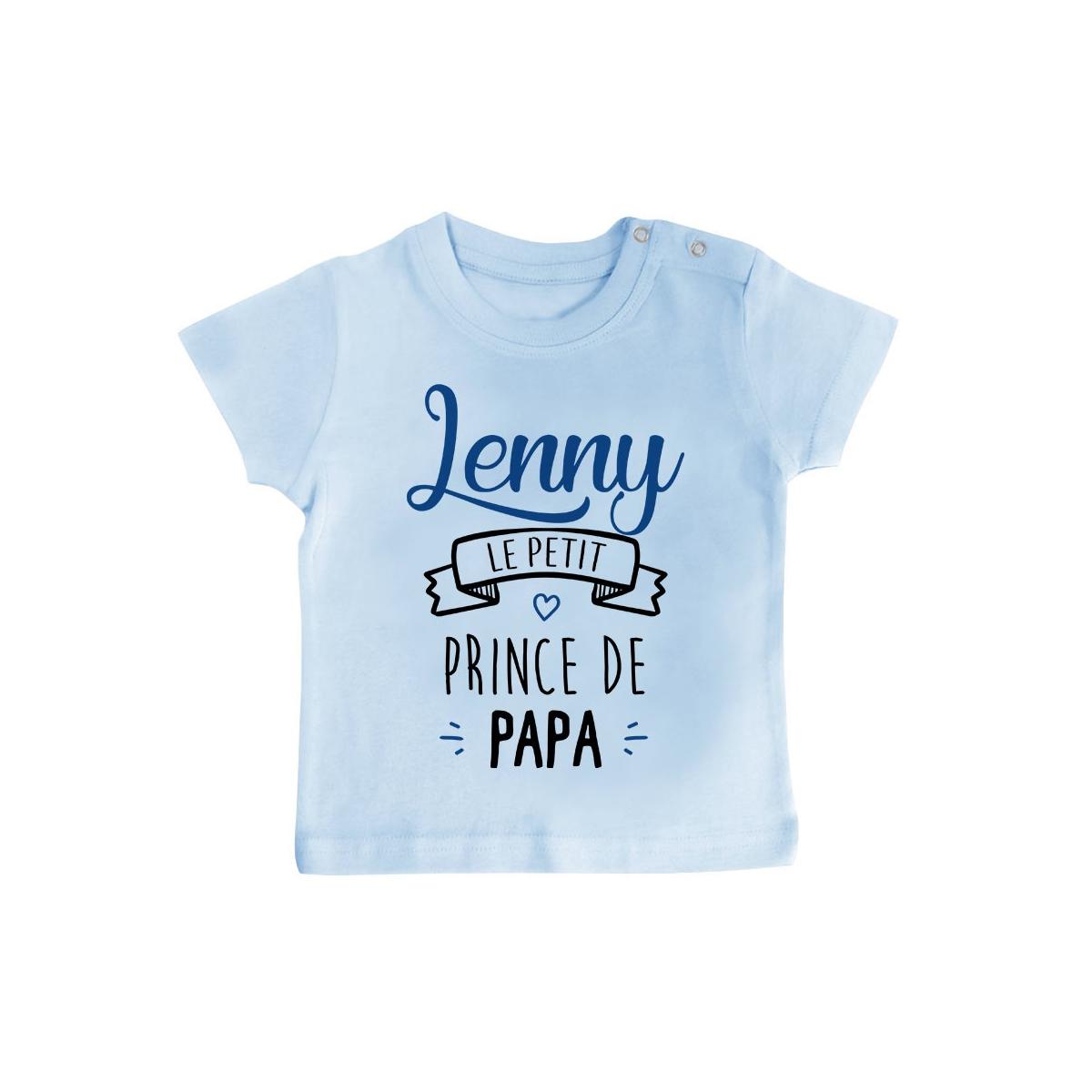 """T-shirt bébé personnalisé """" prénom """" le petit prince de papa"""