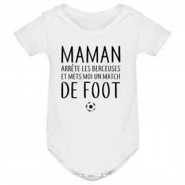 Body bébé Match de foot