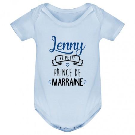 """Body bébé personnalisé """" prénom """" le petit prince de marraine"""