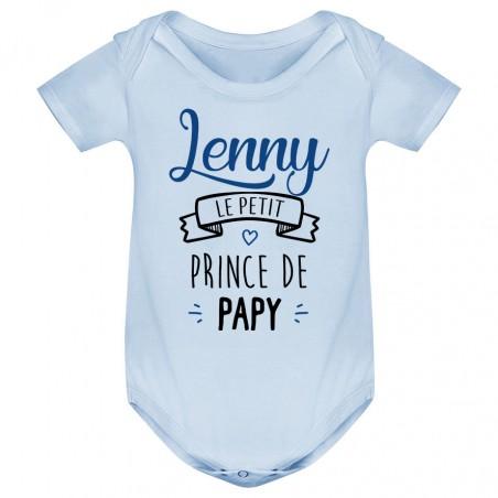 """Body bébé personnalisé """" prénom """" le petit prince de papy"""