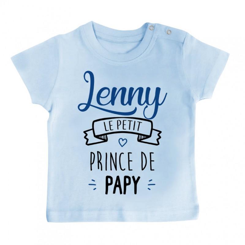 """T-shirt bébé personnalisé """" prénom """" le petit prince de papy"""