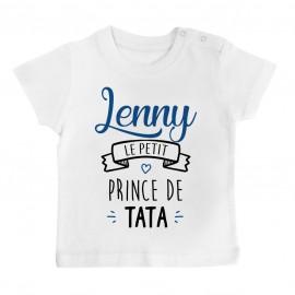 """T-shirt bébé personnalisé """" prénom """" le petit prince de tata"""