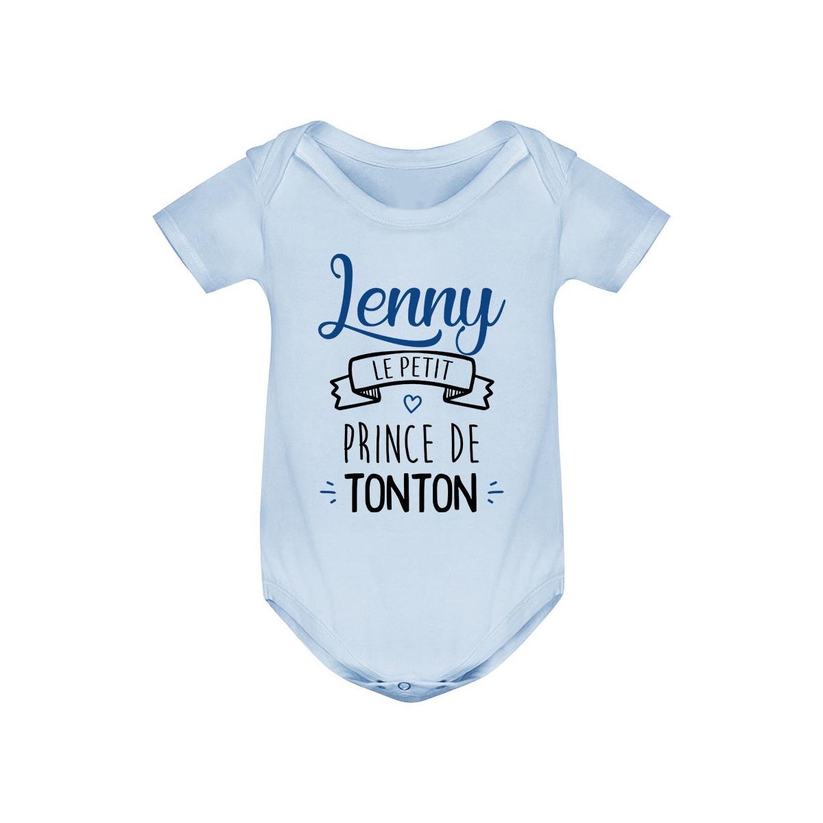 """Body bébé personnalisé """" prénom """" le petit prince de tonton"""
