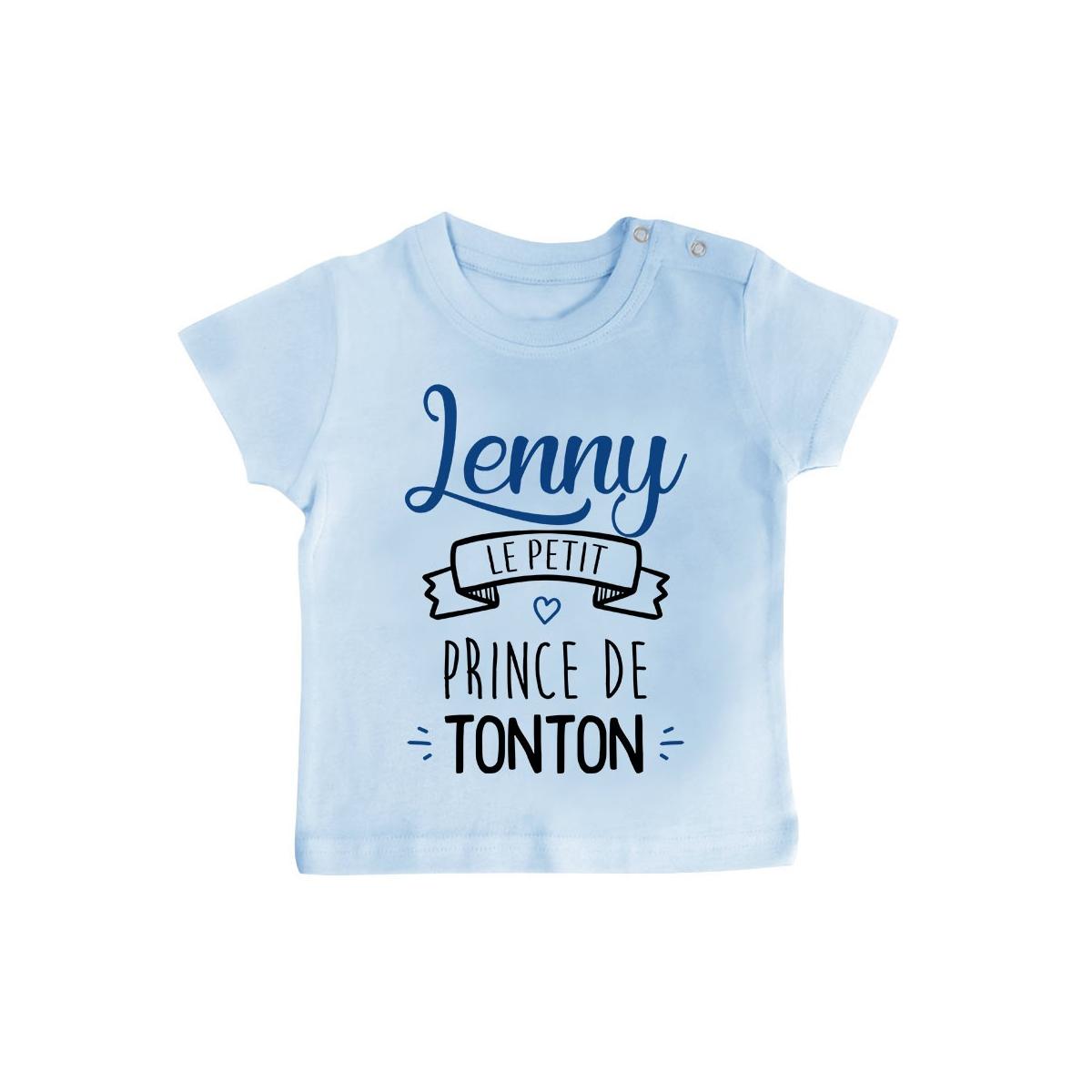 """T-shirt bébé personnalisé """" prénom """" le petit prince de tonton"""