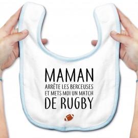 Bavoir bébé Match de rugby
