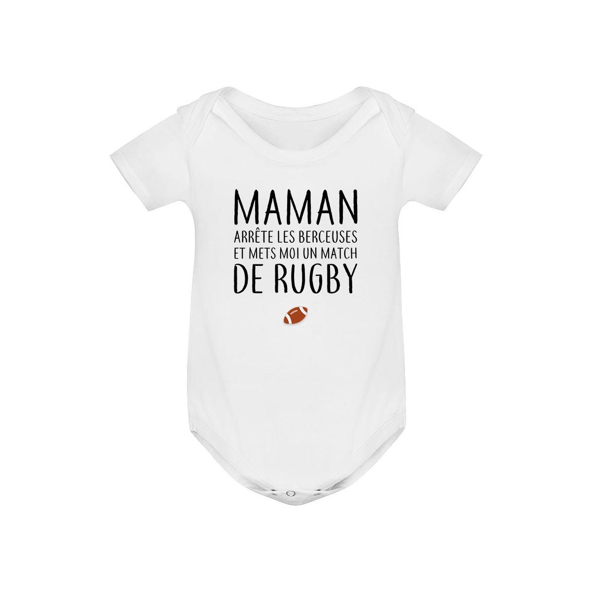 Body bébé Match de rugby