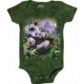 Body bébé Famille Panda -...
